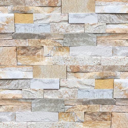 Cultural Stone Background Wall natural piedra mosaico pared ladrillo exterior Villa ladrillo exterior ladrillo fluido televisor Background Wall-Baitian stone 150mm*600mm
