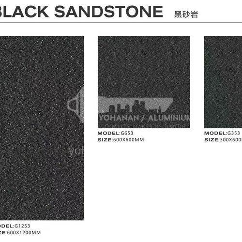 Garden villa rural courtyard floor tiles square non-slip whole body granite quartz stone tiles-  AWM Black sandstone-300×600mm