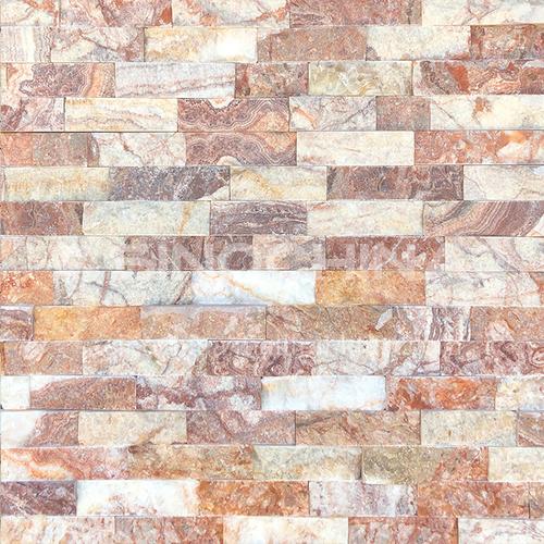 Cultural stone background wall natural stone mosaic wall brick outdoor villa exterior wall brick water stone TV background wall-AWM-Rutile 150mm*600mm