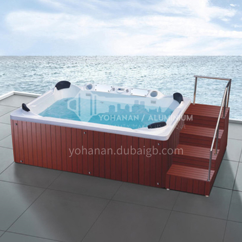 Luxury hot spring pool massage large pool hydrotherapy multi-person SPA massage surfing bathtub outdoor jacuzzi AO-6009