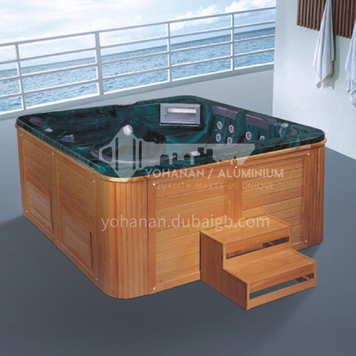 Luxury hot spring pool massage large pool hydrotherapy multi-person SPA massage surfing bathtub outdoor jacuzzi AO-6010