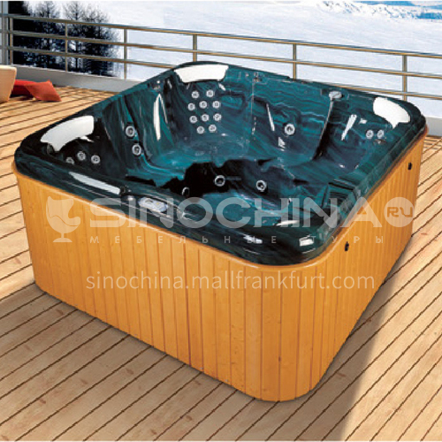 Luxury hot spring pool massage large pool hydrotherapy multi-person SPA massage surfing bathtub outdoor jacuzzi AO-6011