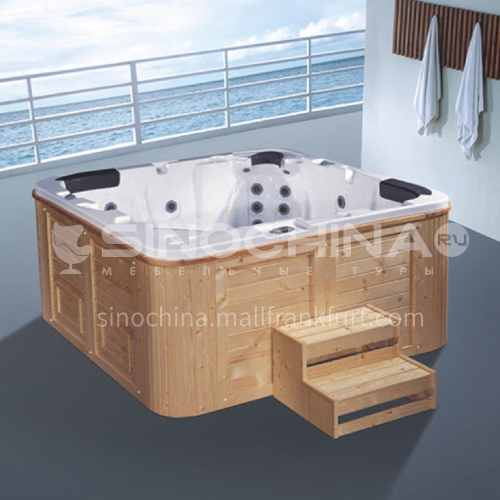 Luxury hot spring pool massage pool hydrotherapy multi-person SPA massage surfing bathtub outdoor jacuzzi AO-6012