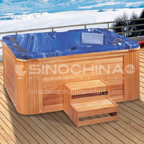 Luxury hot spring pool massage large pool hydrotherapy multi-person SPA massage surfing bathtub outdoor jacuzzi AO-6015