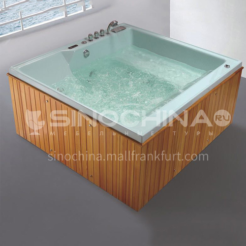 Luxury hot spring pool massage large pool hydrotherapy multi-person SPA massage surfing bathtub outdoor jacuzzi AO-6017