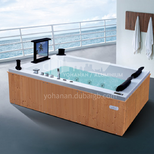 Luxury hot spring pool massage large pool hydrotherapy multi-person SPA massage surfing bathtub outdoor jacuzzi AO-6025