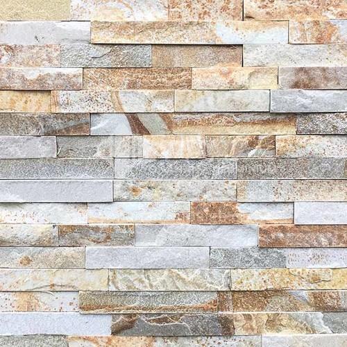 Cultural Stone Background Wall natural piedra mosaico pared ladrillo exterior Villa ladrillo exterior ladrillo fluido televisor Background Wall-AWM-Golden Rainbow 150mm*600mm