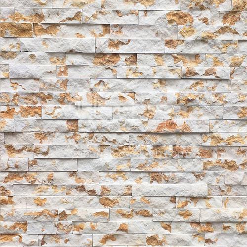 Cultural stone background wall natural stone mosaic wall brick outdoor villa outer wall brick running stone TV background wall-AWM-Jasper 150mm*600mm