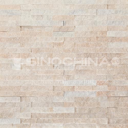 """קיר רקע אבן תרבותית אבן טבעית פסיפס קיר לבנים חיצוני וילה חיצונית קיר אבן ריצת טלוויזיה רקע קיר-AWM- ורוד קריסטל 150 מ""""מ * 600 מ""""מ"""