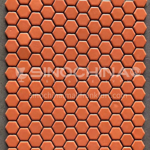 Black and white plum blossom hexagonal mosaic tiles kitchen bathroom floor tiles-ADE Mosaic hexagonal tiles(FIGURE 16) 230×230mm