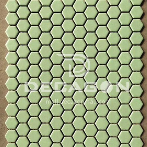 Black and white plum blossom hexagonal mosaic tiles kitchen bathroom floor tiles-ADE Mosaic hexagonal tiles(FIGURE 19) 230×230mm