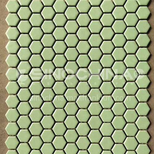 Black and white plum blossom hexagonal mosaic tiles kitchen bathroom floor tiles-ADE Mosaic hexagonal tiles(FIGURE 19) 230×230mm