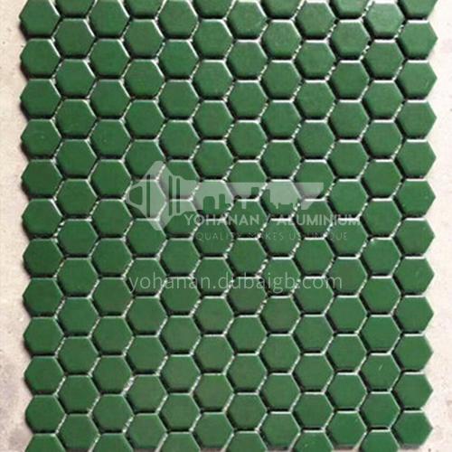 Black and white plum blossom hexagonal mosaic tiles kitchen bathroom floor tiles-ADE Mosaic hexagonal tiles(FIGURE 20) 230×230mm