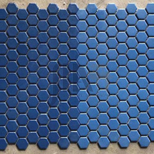 Black and white plum blossom hexagonal mosaic tiles kitchen bathroom floor tiles-ADE Mosaic hexagonal tiles(FIGURE 21) 230×230mm