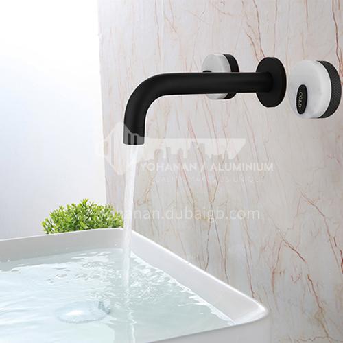 Bathroom basin faucet hot and cold black copper washbasin wall faucet KSH-EF-0001