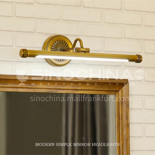 Bathroom mirror lamp, American style bathroom lamp, simple dressing table, mirror cabinet, make-up lamp, toilet lamp-XJ-87291