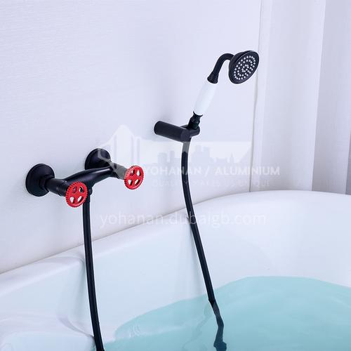 Bathtub Faucet Cylinder Side Copper Hot and Cold Bathroom Wall-mounted Shower Set KSH-23016H