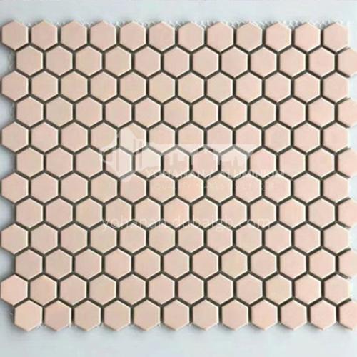 Black and white plum blossom hexagonal mosaic tiles kitchen bathroom floor tiles-ADE Mosaic hexagonal tiles(FIGURE 14) 230×230mm