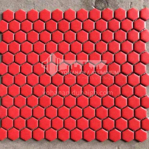 Black and white plum blossom hexagonal mosaic tiles kitchen bathroom floor tiles-ADE Mosaic hexagonal tiles(FIGURE 15) 230×230mm