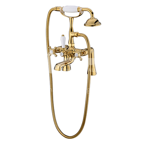 Bathtub Faucet Cylinder Side Copper Hot and Cold Bathroom Shower Set KSH-SS-0010-2