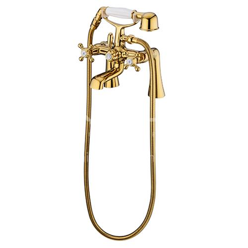 Bathtub Faucet Cylinder Side Copper Hot and Cold Bathroom Shower Set KSH-SS-0010-1
