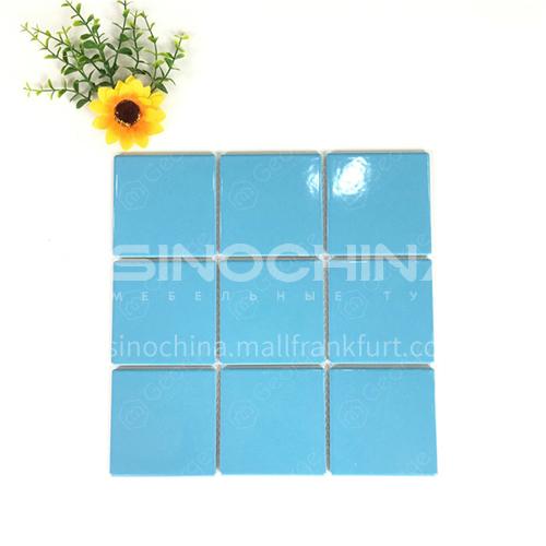 Ceramic swimming pool color mosaic tiles kitchen bathroom toilet wall tiles-ADELGLB 300*300mm