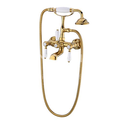 Bathtub Faucet Cylinder Side Copper Hot and Cold Bathroom Shower Set KSH-SS-0002-2