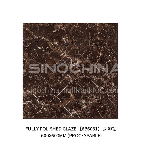 Foshan Direct Selling Project Threshold Stone Anchor Line Open Ring Marble Non-slip Tile-JLS6B6031 600×600mm