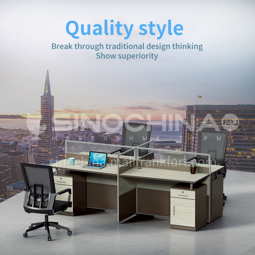 AB-168-2412B3-Commercial office furniture screen work position office desk chair combination wood-based panel