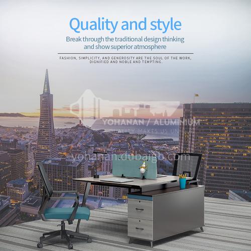 AB-ALW-1412A- Modern office furniture, staff desk, healthy and environmentally friendly board, steel frame desk