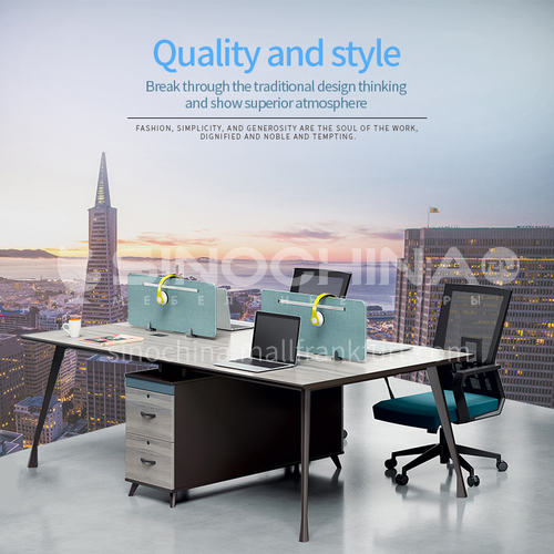 AB-ALW-2412A- Modern office furniture, staff desk, environmentally friendly and healthy board, steel frame, office desk and chair