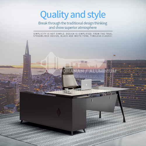AB-ALZ-1816A- Modern office furniture, supervisor desk, environmental health board, steel frame, supervisor desk