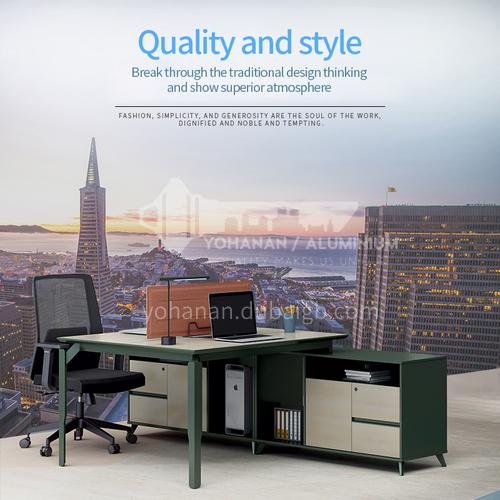 AB-ATW-1424B- Modern office furniture, staff desk, environmentally friendly and healthy board, steel frame, desk