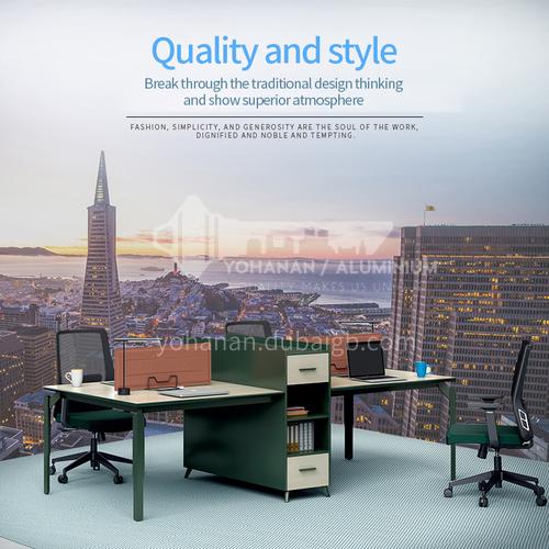 AB-ATW-2812B- Modern office furniture, staff desk, healthy and environmentally friendly board, steel frame, desk