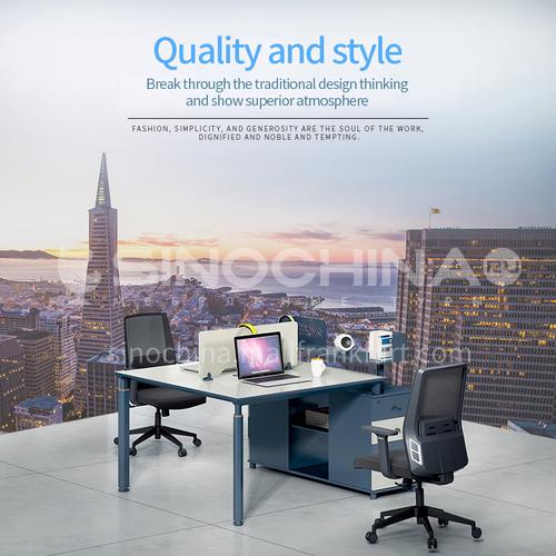 AB-AZW-1512- Modern office furniture, staff desk, healthy and environmentally friendly board, aluminum alloy frame, desk