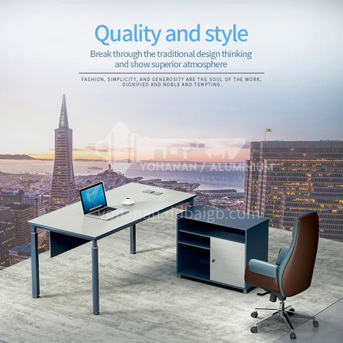 AB-AZZ-1616A- Modern office furniture, supervisor desk, healthy and environmentally friendly board, aluminum alloy frame, supervisor desk