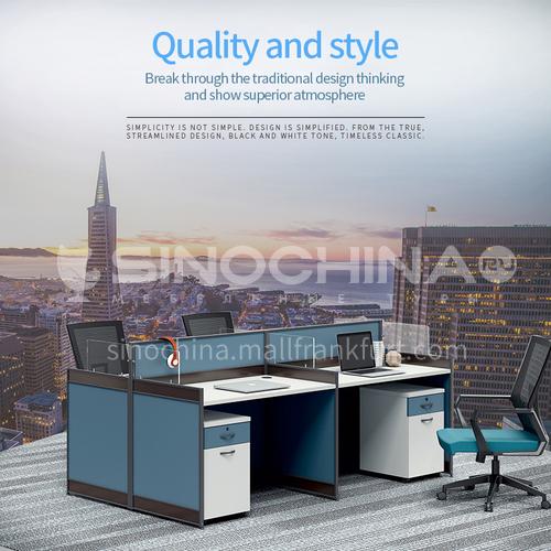 AB-G25-2412L- Modern office furniture, staff desks, healthy and environmentally friendly panels, aluminum alloy frames, glass screens, staff desks
