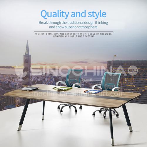 AB-MFM-2411A- Modern office furniture, staff desk, healthy and environmentally friendly board, steel feet, staff desk