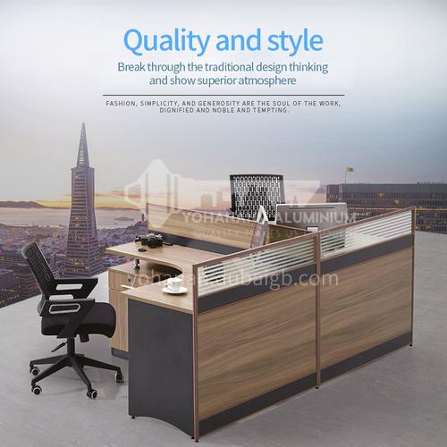 AB-V20-2414A- Modern office furniture, staff desks, healthy and environmentally friendly panels, aluminum alloy frames, glass screens, staff desks