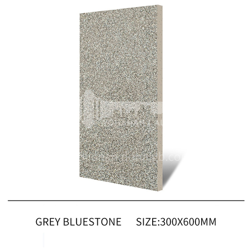 Courtyard floor tiles Square outdoor non-slip anti-freeze floor tiles Thickened rural villa quartz tiles-JLS Grey Bluestone 300×600mm