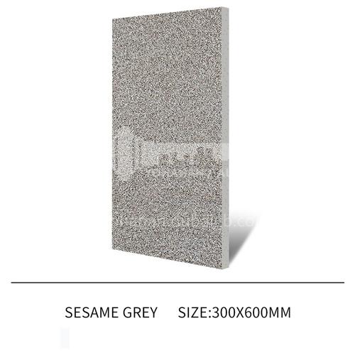 Courtyard floor tiles Square outdoor non-slip anti-freeze floor tiles Thickened rural villa quartz tiles-JLS Sesame Grey 300×600mm