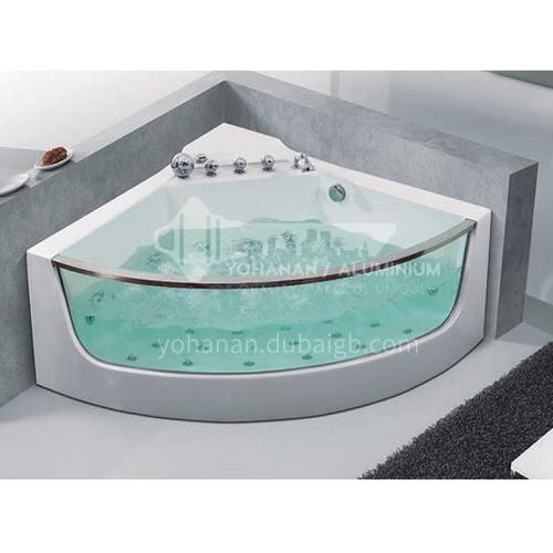 Acrylic corner surfing jacuzzi bathtub against the wall home triangular bathroom soaking bathtub AO-6076