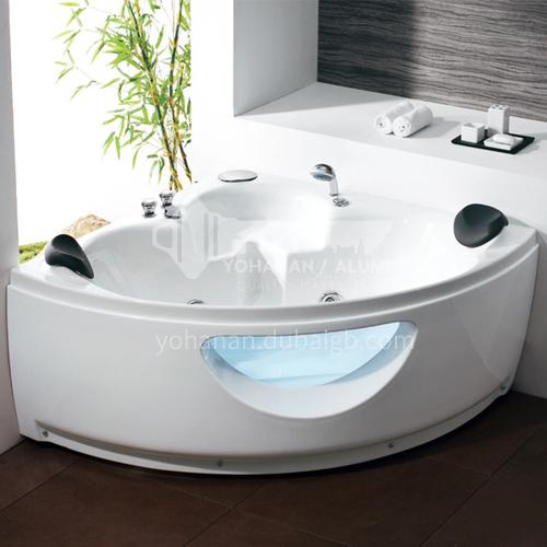 Acrylic corner surfing jacuzzi bathtub against the wall home triangular bathroom soaking bathtub AO-6079