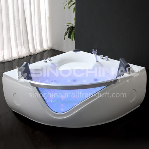 Acrylic corner surfing Jacuzzi bathtub against the wall Home triangular bathroom soaking bathtub AO-6084