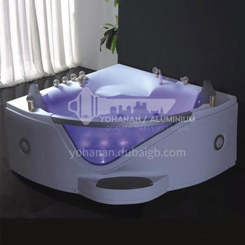 Acrylic corner surfing Jacuzzi bathtub against the wall Home triangular bathroom soaking bathtub AO-6085