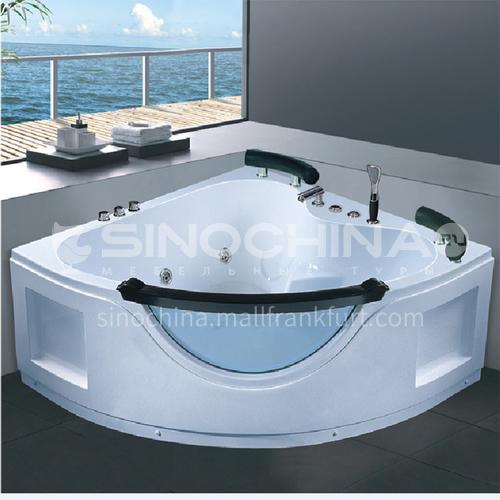 Acrylic corner surfing Jacuzzi bathtub against the wall home triangular bathroom soaking bathtub AO-6086
