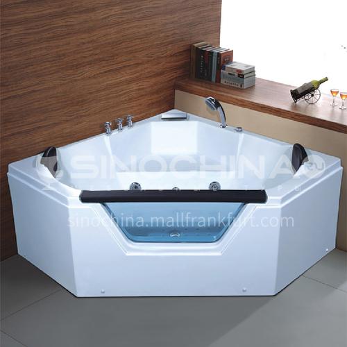 Acrylic corner surfing Jacuzzi bathtub against the wall Home triangular bathroom soaking bathtub AO-6087