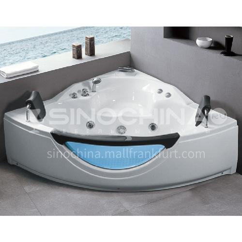 Acrylic corner surfing Jacuzzi bathtub against the wall Home triangular bathroom soaking bathtub AO-6090