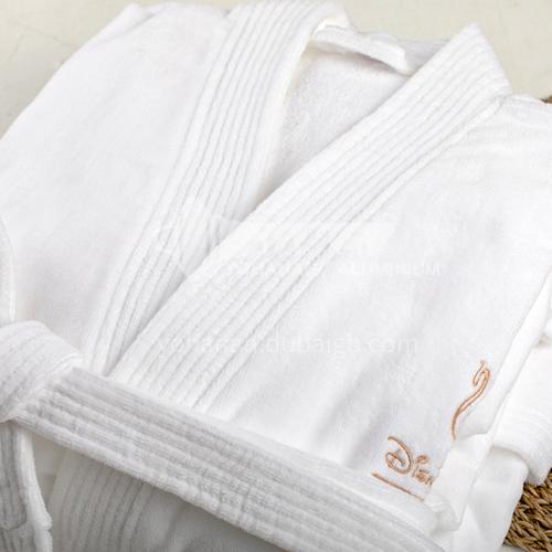 Hotel special high quality cut velvet 1200 gram 120cm bathrobe BDK-HY-BRB-V120W