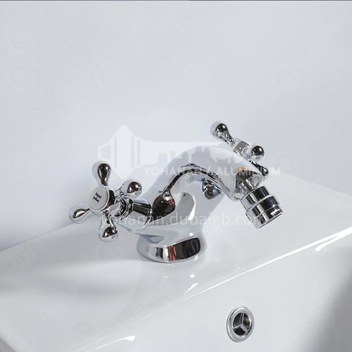 Toilet spray gun copper hot and cold water faucet bidet nozzle bathroom cleansing water gun flusher household high pressure-luxury short feet